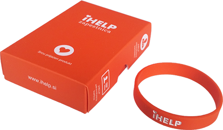 iHELP medical bracelet with SOS ID code for Medical record file